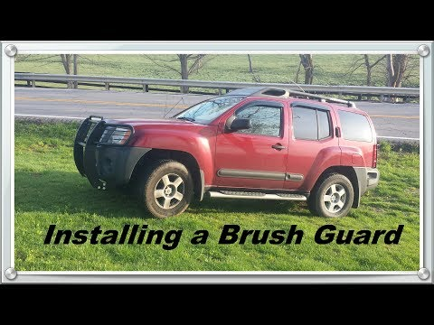 Installing a Brush Guard / Grille guard on an XTerra '05