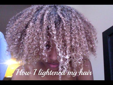 How I Lightened My Hair Using Baking Soda Peroxide Honey