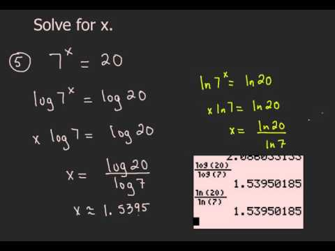 Solving Exponential Equations 2 - Different Bases