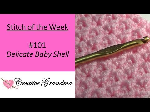 Stitch Of The Week (Delicate Baby Shell Pattern)