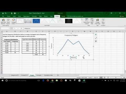 Microsoft Excel - How to Create A Frequency Polygon