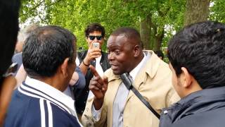 Muslims Attacked Man of God - Speakers Corner Hyde Park London 2014.