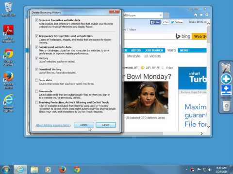 How to clear browsing history in Internet Explorer