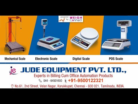 No.1 Branded Weighing Scales in Chennai - Tamil Nadu @ JUDE EQUIPMENT PVT LTD by WEIGH Connect