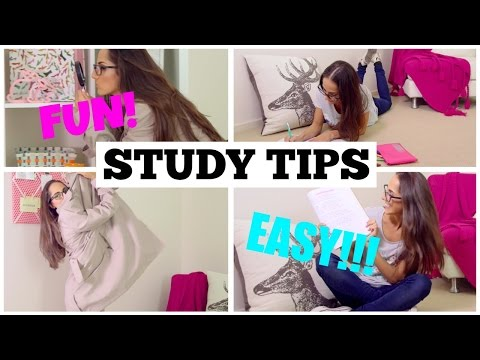EXCLUSIVE STUDY TIPS!!! FUN and EASY ways to spice up your study sessions!