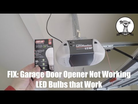 Garage Door Opener Working Intermittently - LED Bulb Culprit