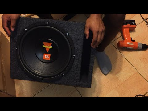 How To Build a Subwoofer - 12 inch JBL Sub Box Replacement