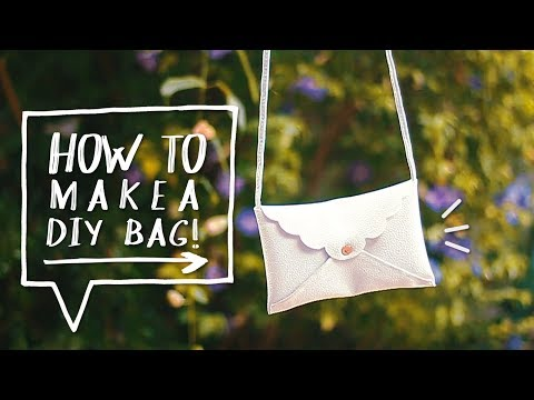 DIY NO SEW PURSE | How to Make a Mini Cross Body Bag + Clutch | Sewing Projects ✨Alejandra's Styles
