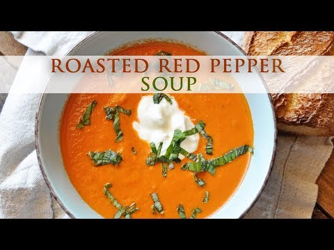 Chilled Roasted Red Bell Pepper Soup