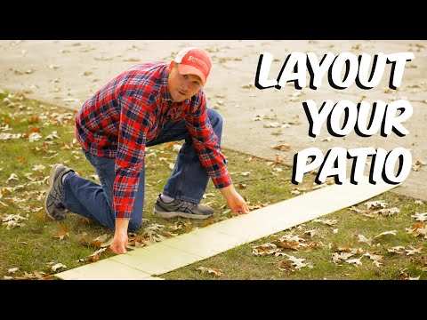 Build with Roman - Paver Patio Layout