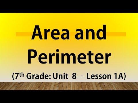 Area and Perimeter (7th Grade Unit 8 Lesson 1A)
