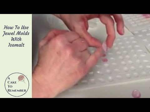 How to use jewel molds with isomalt for cake decorating. Cake decorating tutorial edible gems
