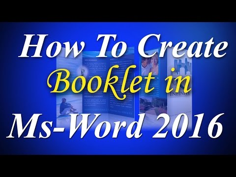 How to Create a professional Booklet in Microsoft word 2016 Step by step