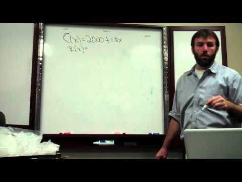 Cost and Revenue Functions 002