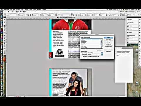 InDesign find font
