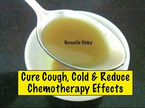 DIY Homemade Cold Cough Sore Throat Natural Remedy  Ginger Honey Juice
