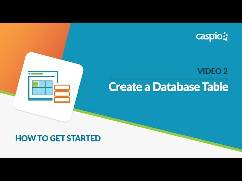 Learn How to Get Started with Caspio (Part 2 of 5) - Create a Table