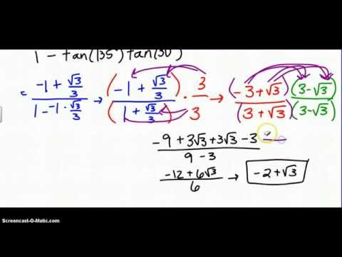 Sum and Difference Formula (Tangent)