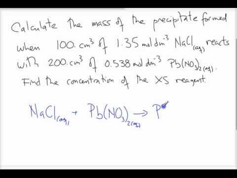 Limiting Reagent & Theoretical Yield Problems involving Solutions