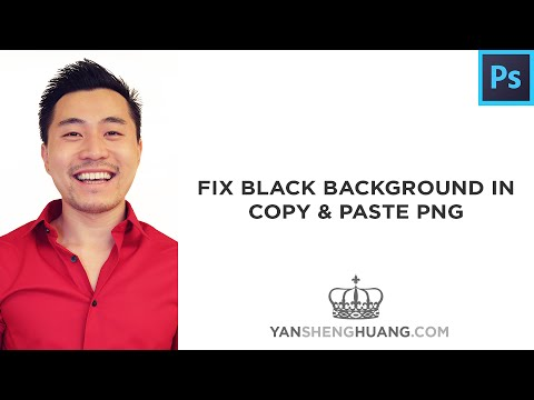 Photoshop Tutorial: Fix Black Background in Copy & Paste PNG