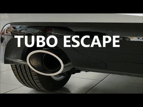 El tubo de escape silenciador del automóvil, es para disminuir la contaminación acústica.