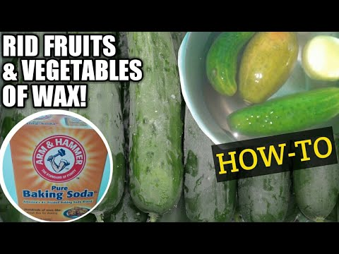 HOW TO USE BAKING SODA TO REMOVE WAX FROM FRUITS AND VEGETABLES | DIY HOME REMEDIES