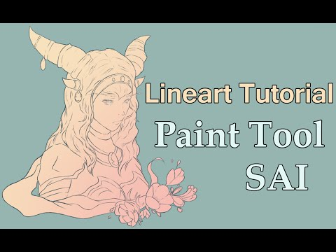 Paint Tool SAI | Lineart Tutorial for Beginners