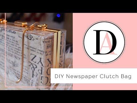 DIY || Newspaper Acrylic Clutch Bag