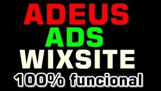 """Removendo as propagandas do WIXSITE 100% funcional """"Atualização final"""""""