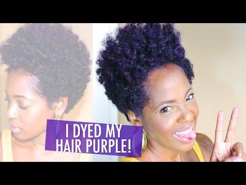 Manic Panic Ultra Violet Hair Dye on Natural Hair