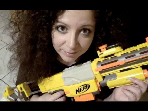 Pampering a Nerf gun: Tapping, cleaning, scratching! (whispered)