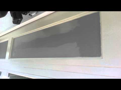 Painting: Cutting tight lines on a garage door