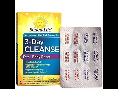 Renew Life - Total Body Reset - digestive detox and cleanse supplement - 3 day program
