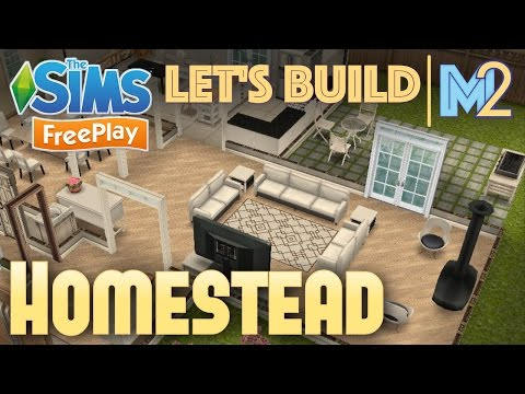 Sims FreePlay - Let's Build a Family Homestead (Live Build Tutorial)