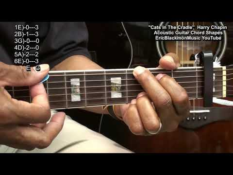 Guitar Chord Tutorial #233 Cats In The Cradle Harry Chapin Shapes & Lesson Link