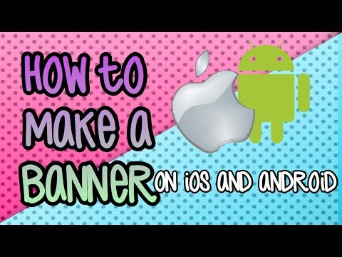 How to make a YouTube banner on your phone / iPod /iPad iOS or android