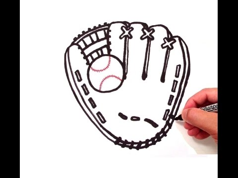 How to Draw a Baseball Glove