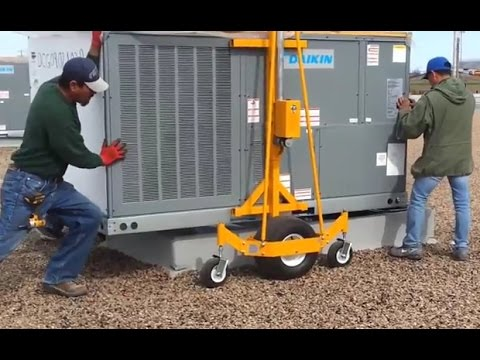 How to Move A/C Units on Rooftops with Pro-Lift -  Save Money on Large Crane and Helicopter Rentals