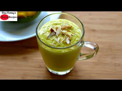 Sugar Free Mango Lassi - Healthy & Gut Friendly Recipes - Skinny Recipes