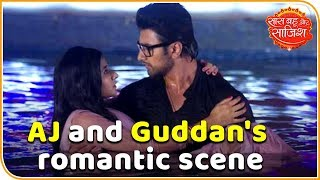 AJ and Guddan's Romantic Scene | Guddan Tumse Na Ho Payega | Saas Bahu aur Saazish