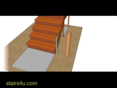 How To Stabilize Lower Stair Handrail with Metal Pipe Embedded in Concrete