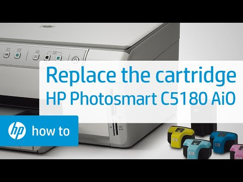 Replacing a Cartridge - HP Photosmart C5180 All-in-One Printer