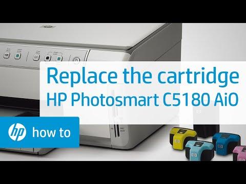 Replacing a Cartridge - HP Photosmart C5180 All-in-One Printer