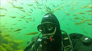 Scuba diving a lake in the High Sierra Mountian