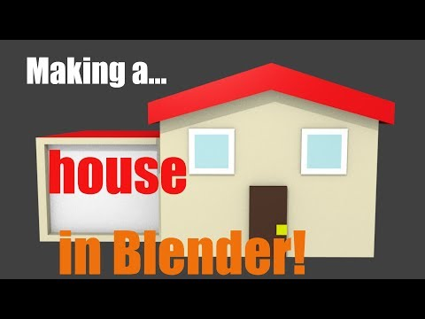 Making a LOW POLY HOUSE in Blender!