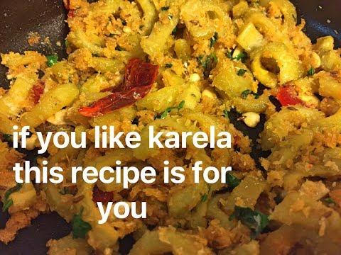 if you like karela this recipe is definitely for you, kashmiri karela ki sabji   no onion no garlic