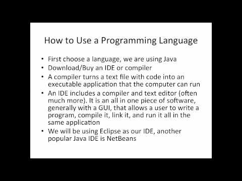 Introduction to Programming with Java (Part 1/2)