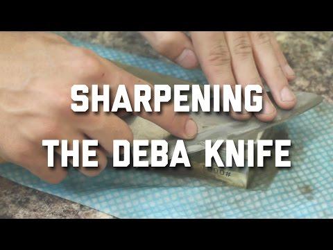SHARPENING THE DEBA KNIFE (JAPANESE FISH KNIFE)