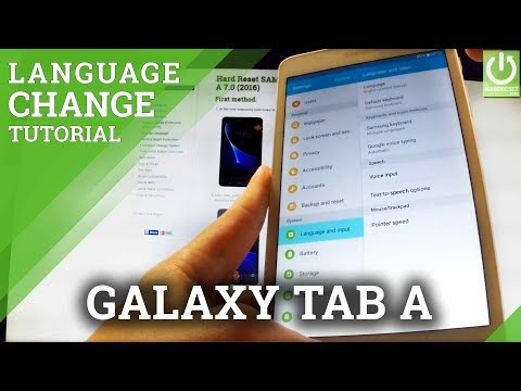 How to Change Language Settings on SAMSUNG Galaxy Tab A