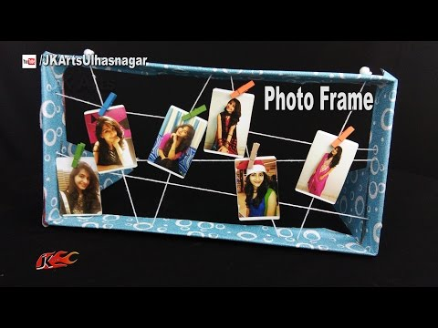 How to Make a Photo Frame Collage | Best out of waste | JK Arts 1155